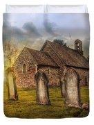 St Oswald At Sundown Duvet Cover