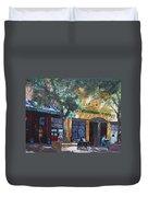 Starbucks Hangout Duvet Cover by Ylli Haruni