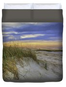 Sunset Beach Dunes Duvet Cover