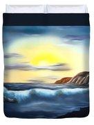 Sunset Beach Pastel Splash Dreamy Mirage Duvet Cover
