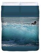 Surf Starter, Kekaha Beach Duvet Cover