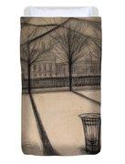 The Evening In Tuileries Paris Duvet Cover