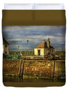 The Harbour At Maryport Duvet Cover