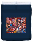 The Night Life On Crescent Street Duvet Cover