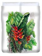 Tiger Claw .. Heliconia Duvet Cover