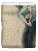 Tiger Woods Hits From A Access Road Duvet Cover