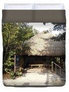 Tiki Hut  Duvet Cover