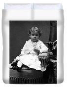 Toddler Sitting In Chair 1890s Black White Boy Duvet Cover