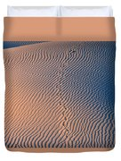 Tracks At First Light In Death Valley Duvet Cover
