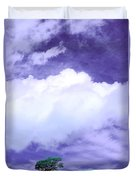 Tree Clouds Hill Duvet Cover