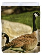 Two Geese Duvet Cover
