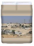 Unrecognized, Beduin Shanty Township  Duvet Cover