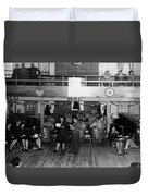 Uso Show May 5 1944 Black White 1940s Archive Duvet Cover