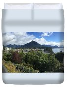View From Top Of Castle Hill Sitka Alaska 2015 Duvet Cover