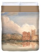 View Of Lambeth Palace On Thames Duvet Cover