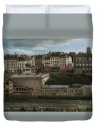 View Of The Seine Duvet Cover