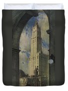 View Of The Woolworth Building Duvet Cover