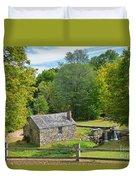 Village Blacksmith Shop Duvet Cover