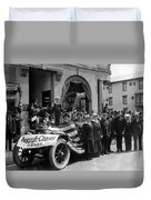 W Recruiting Parade 1918 Black White 1910s Bank Duvet Cover