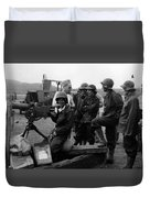 Wacs Learning Fire Machine Gun Circa 1943 Black Duvet Cover