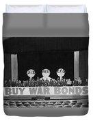 War Bond Rally Buy Bonds February 1944 Black Duvet Cover