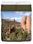 West Garden Of The Gods Duvet Cover
