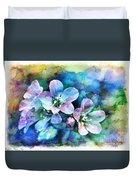Wildflowers 5  -  Polemonium Reptans - Digital Paint 4 Duvet Cover