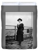 Woman Female In Naval Military Uniform 1918 Duvet Cover