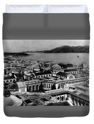 Worlds Fair San Francisco 1915 Black White 1910s Duvet Cover