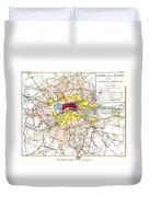 Map Of London, 1881 Duvet Cover