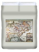 New France, 1719 Duvet Cover
