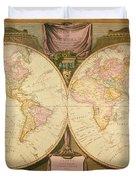 Captain Cook: Map, 1808 Duvet Cover