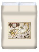 Map: Colonial America, Duvet Cover
