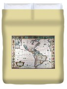 New World Map, 1616 Duvet Cover