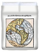 World Map, 1529 Duvet Cover