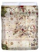 Nina: World Map, 1500 Duvet Cover