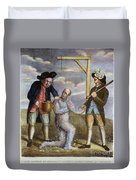 Tarring & Feathering, 1774 Duvet Cover