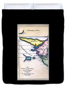 Atlantis: Map, 1831 Duvet Cover