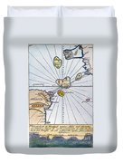 Traces Of Atlantis Duvet Cover