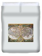 World Map, 1607 Duvet Cover