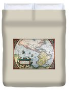 New World Map, 1570 Duvet Cover