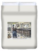 Carry Nation Cartoon, 1901 Duvet Cover