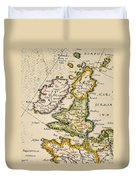 Map Of Great Britain, 1623 Duvet Cover