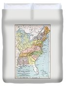 United States Map, C1791 Duvet Cover