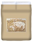Waldseemuller: World Map Duvet Cover