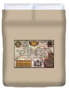 Map Of The Roman Empire Duvet Cover