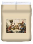 Napoleon Cartoon, 1805 Duvet Cover
