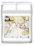 Indian Ocean: Map, 1705 Duvet Cover