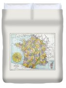 Map Of France, C1900 Duvet Cover