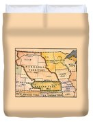 Kansas-nebraska Map, 1854 Duvet Cover